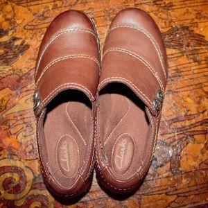Clark's Womens Marigold Slip-on Brown 6M